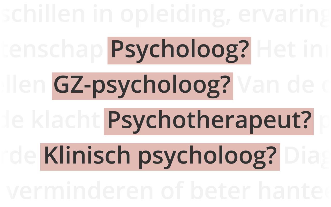 Titels psychologen