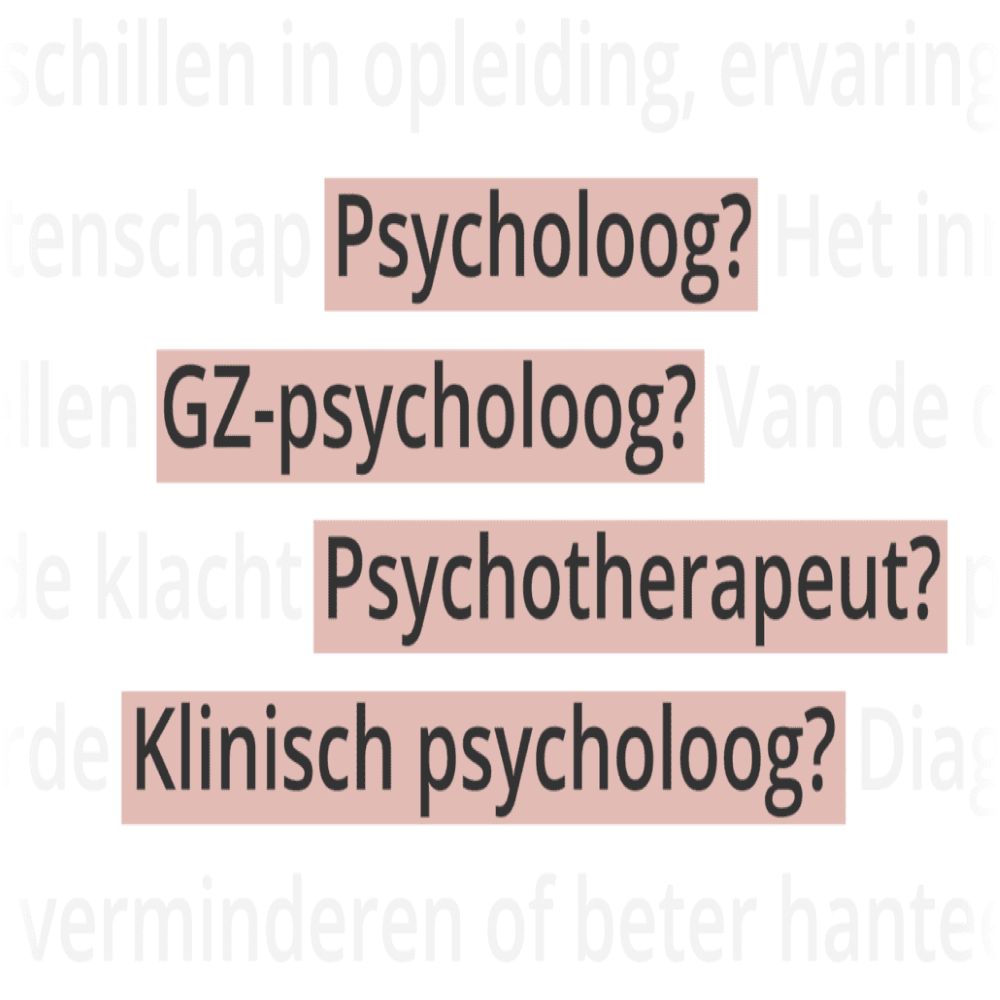 Soorten psychologen