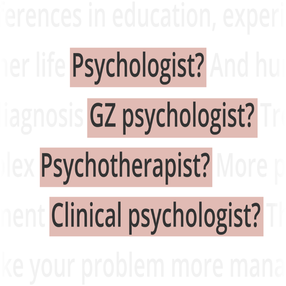 Titles of psychologists